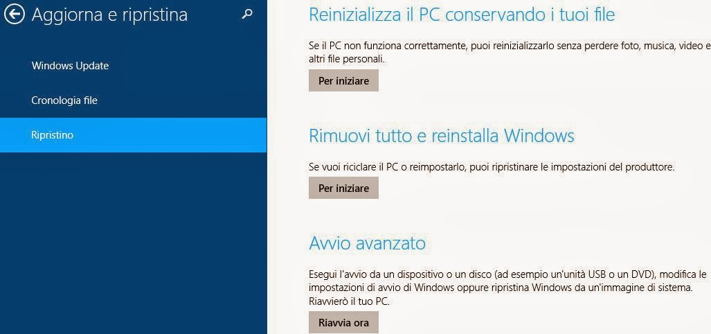 Ripristinare windows 8.1 senza perdere dating